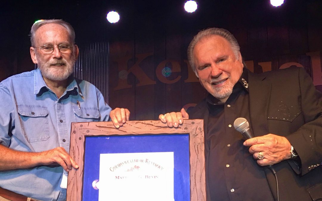 Gene Watson is commissioned as Kentucky Colonel by Governor's decree