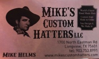 Check out Mike for Custom Hats